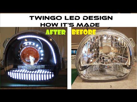 NASIL YAPILIR // RENAULT TWINGO LED TASARIMI // HOW IT'S MADE RENAULT TWINGO HEADLIGHT LED DESIGN