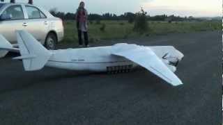Ан-225 модель из пенопласта - первый полёт