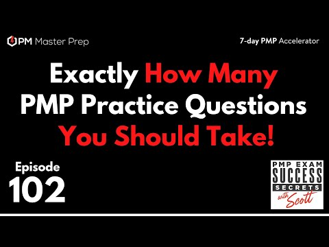 Exactly How Many PMP Questions You Should Take To ... - YouTube