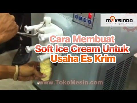 Video Cara Membuat Soft Ice Cream Untuk Usaha Es Krim