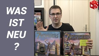 7 Wonders (Neue Edition) - WAS IST NEU? (Antoine Bauza, Repos Production 2010 / 2020)