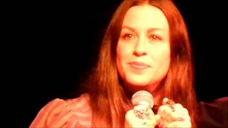 ALANIS MORISSETTE 'No Pressure Over Cappuccino' & talks about first time singing - NY- 7/26/2014