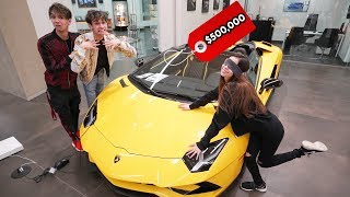 Buying EVERYTHING My Girlfriend Touches Blindfolded!