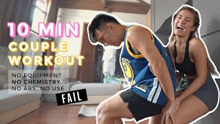 10 Min Workout With My Husband *HILARIOUS*