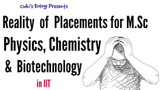 Reality of Placements for M.Sc Physics, Math, Chemistry & Biotech in IIT..........By Chiki's Biology