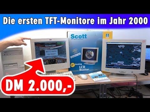 """DM 2000,- für einen 15""""-TFT-Monitor - Die ersten TFT-Monitore auf dem Markt vor 18 Jahren"""