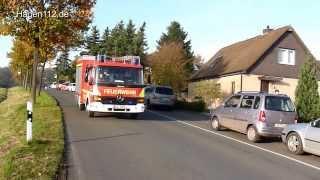 preview picture of video 'Alarmfahrt ELW und LF FF Holzwickede LG Opherdicke'
