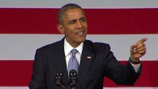 Obama to heckler: You