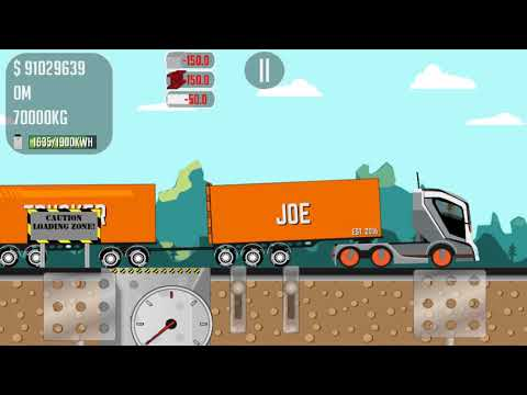 Game trucker Joe transports steel to the construction of an aircraft factory