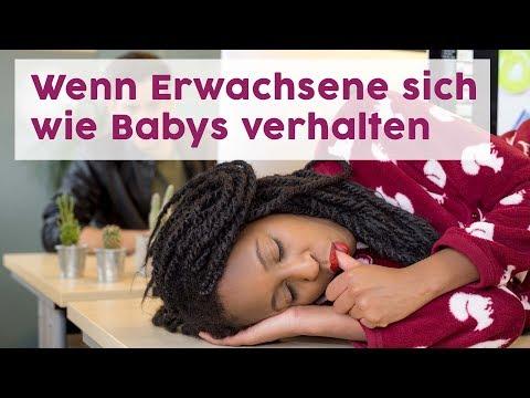 So säh es aus, wenn sich Erwachsene wie Babys verhalten würden!