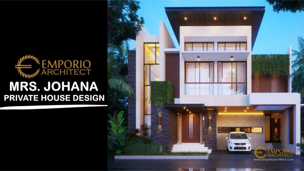 Video 3D Desain Rumah Modern 2 Lantai Ibu Johana di Jatibening, Bekasi