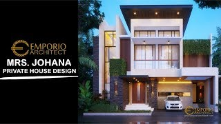 Video Mrs. Johana Modern House 2 Floors Design - Jatibening, Bekasi