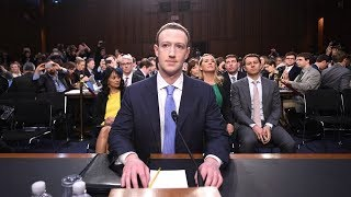 Mark Zuckerberg testifies on Capitol Hill. April 10, 2018.