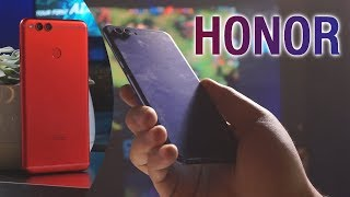 Huawei Honor View 10 Hands-On and Huawei Honor 7X in Red