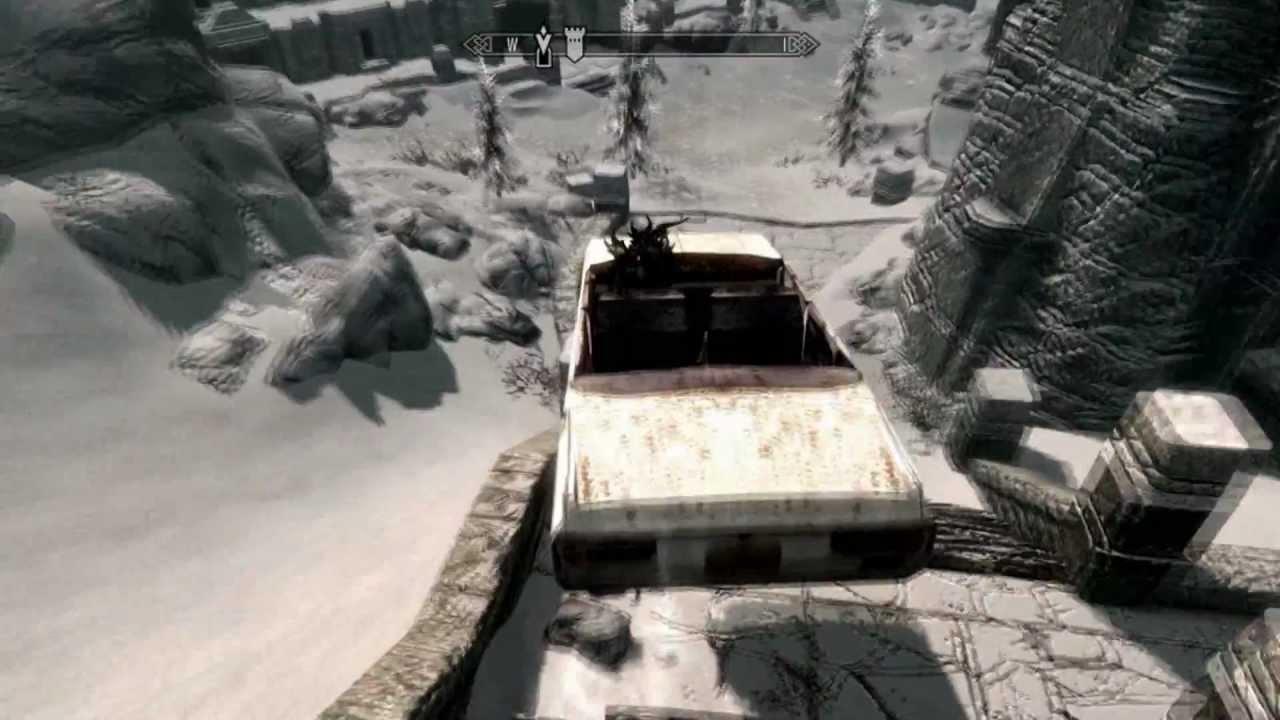 This Mod Lets You Drive A Car Around Skyrim