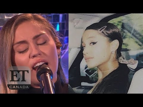 Ariana Grande Reacts To Miley Cyrus' 'No Tears Left To Cry'
