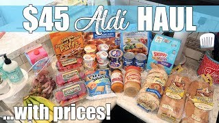 $45 Aldi Weekly Grocery Haul for Family of 4   Budgeting for Frugal Living Food Haul