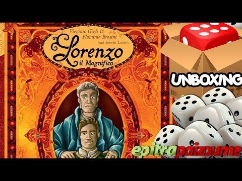 Lorenzo il Magnifico Houses of Renaissance - Unboxing Video (EN) by Epitrapaizoume