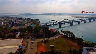 The loving Rajahmundry (Aerial video of rajahmundry East Godavari By |Vishnu M Shenoy|