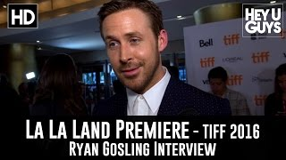 Ryan Gosling La La Land Premiere Interview  TIFF 2016