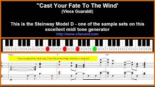 Cast Your Fate To The Wind - Jazz piano tutorial