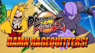 DAMN RAGEQUITTERS! Dragon Ball FighterZ - Ranked Matches