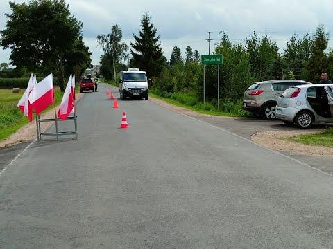 Droga Wiżajny – Smolniki – Sidory już po modernizacji. Malowniczy trakt