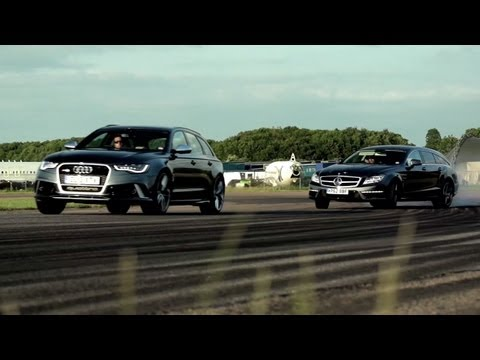 Audi RS6 vs Mercedes CLS 63 AMG Wagon