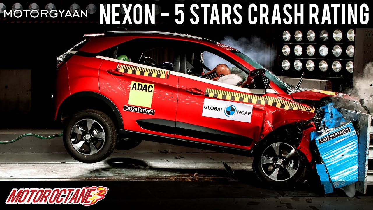 Motoroctane Youtube Video - Tata Nexon - 5 Star crash + Marazzo - 4 star - Hindi | MotorOctane