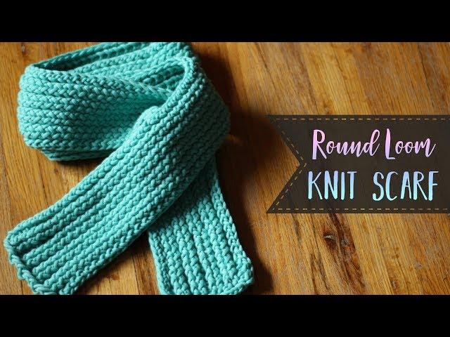 Round Loom Knit Scarf Tutorial Knit Purl Slip Stitch Essyjae