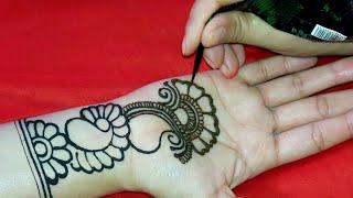 Full Hand Shaded Arabic Mehndi Design Simple Easy Mehandi