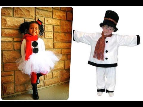 Disfraces de muñeco de nieve para niños - halloween