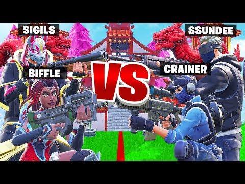 PUSH the LINE w/ Ssundee & Crainer - Fortnite Battle Royale Creative Mini  Game - Sigils