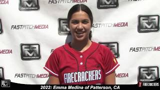 2022 Emma Medina Shortstop and Slapper Softball Skills Video - Firecrackers