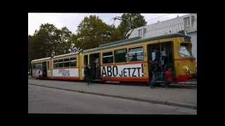 preview picture of video '[Straßenbahn Karlsruhe] [HD] Die alten DWM/WU-GT8 199-215 im Einsatz auf der Linie 5'
