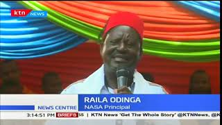 Raila Odinga leads NASA as they hold a People's Assembly in Mombasa