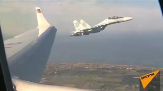 Самолет Владимира Путина на пути в Каир сопроводили истребители ВКС РФ