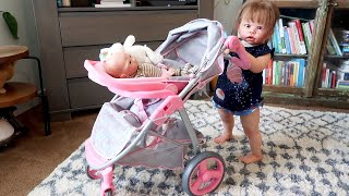 Reborn Baby Play Set Unboxing 2 in 1 Travel System