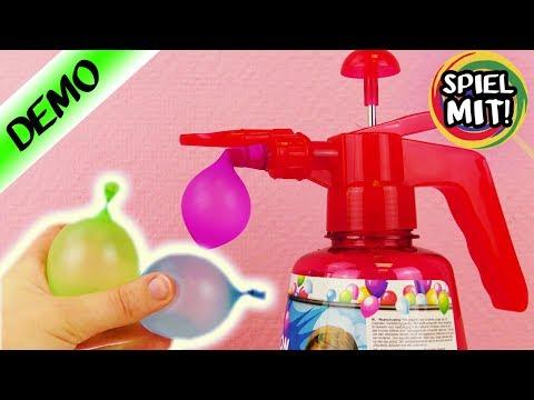 UNTERWEGS WASSERBOMBEN BEFÜLLEN ohne Wasserhahn | ultra schnelle Ballon Pumpe für Wasserschlacht