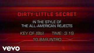 The All-American Rejects - Dirty Little Secret (Karaoke)