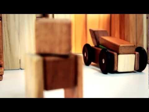 Vorschau: Magnet-Holzbauklötze 42-teilig Tints