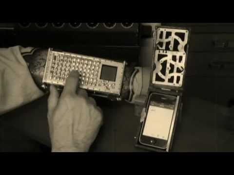 Steampunk wrist-keyboard in a leather buckler / Boing Boing