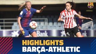 [HIGHLIGHTS] FUTBOL FEM (Liga): FC Barcelona - Athletic (0-1)