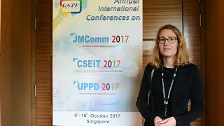 Stéphanie Hasler at UPPD Conference 2017 by GSTF Singapore