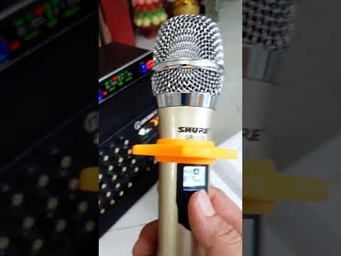 Micro không dây shure 368 hút nhẹ cực kỳ