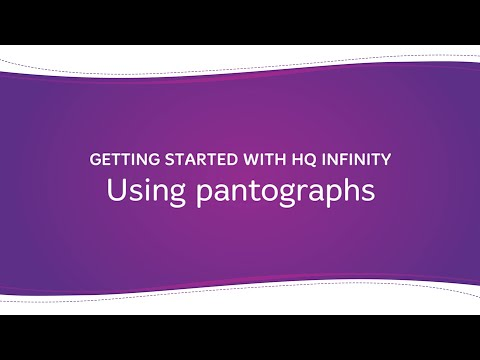 HQ Infinity - Using Pantographs