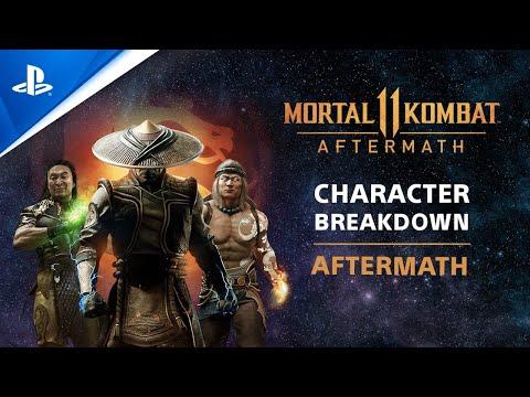 Mortal Kombat 11 Aftermath - Character Breakdown: RoboCop, Sheeva, & Fujin   PS4