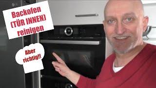 #Bosch Serie 8 #Backofen Tür von innen #reinigen aber wie?