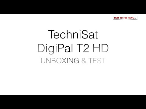TechniSat DigiPal T2 HD - UNBOXING & TEST (DVB-T2 HD Receiver)