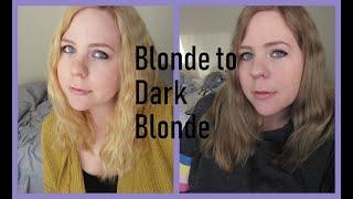 Light Blonde To Dark Blonde // Loreal Medium Ash Blonde
